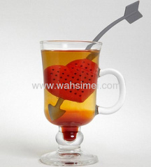 Fashion silicone products Heart shape tea infuser