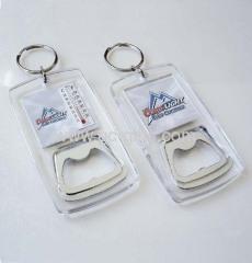 Acrylic thermometer bottle opener keychain