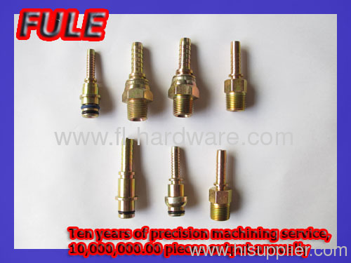 Steel hose end customized fitting