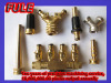 brass hose nozzle customized thread with rubber cover for easy grip