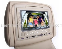 7 inch car headrest monitor Built-in Monitor/ Headphone/Game/ Touch-key or Remote control