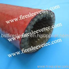 Silicone coated fiberglass fire sleeving
