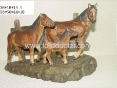 Subtle 3D Carved Horses