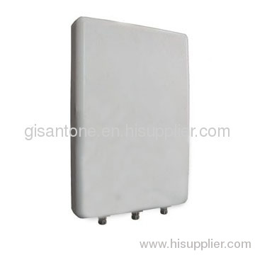 2.4G WIFI Wlan Panel MIMO Antenna With 3 Connectors High Gain