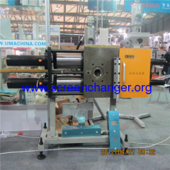 Double piston continuous screen changer