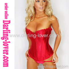 Red overbust sexy corset