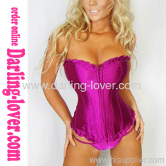 Purple overbust sexy corset