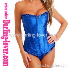 Blue Overbust sexy corset