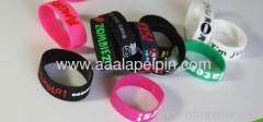Adjustable print Silicone Wristbands