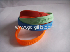Promotional debossed silicon bracelets