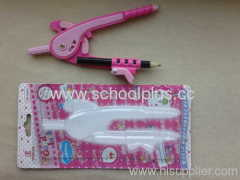plastic math stationery compass set for school