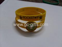 Yellow rubber bracelets cheap