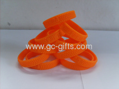 Embossed promotional rubber wristbands