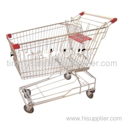 European style supermarket shopping trolley cart 60-240L /heavy duty hand truck
