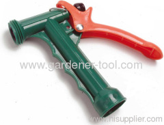 Plastic full size garden water gun with thread front