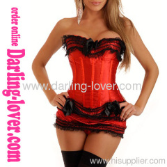 Red Corset Sets With Robbin
