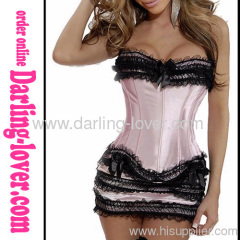 Corset Sets Pink With Dress