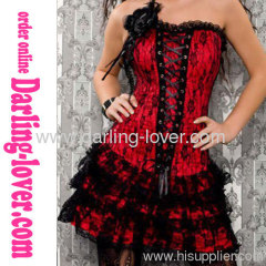 Red Corset Lace With Dress