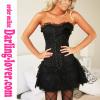 Black Lace Corset Dress Sets