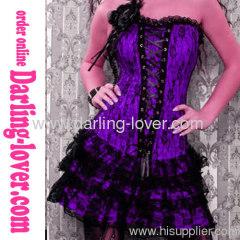 Purple Lace Corset Dress Sets
