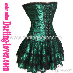 Sexy Green Lace Corset Dress
