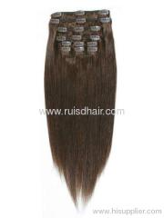 100% human hair clip in hair extension
