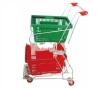 shopping trolley smart cart/children metal shopping cart/ double basket shopping cart /metal trolley