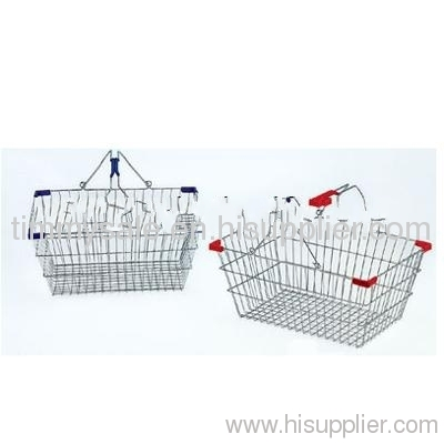 plastic basket with metal handle Wire mesh shopping baskets ... on basket cabinets, basket frame, basket painting, basket bracket, basket lamps,