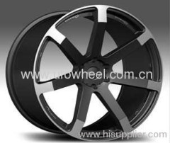 alloy rims in black finish