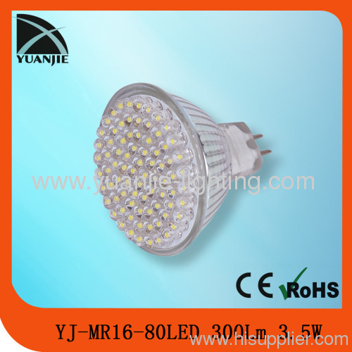 3.5w mr16 led lamp with glass housing