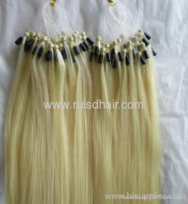 Micro ring loop keratin hair extension