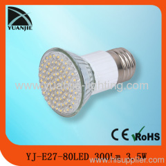 3.5w 80led GU10/MR16/E27/E14 led spot light lamp