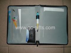 Custom PU leather file folder bag