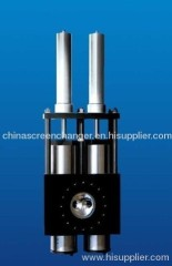 Double pillar screen changer /hydraulic filter for plastic processing machine