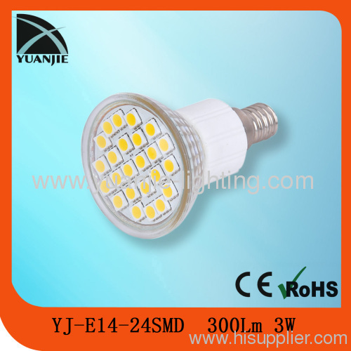 24smd led lamp glass housing