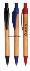 Bamboo promotional ballpen with leaf shape clip