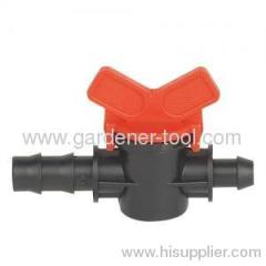 Plastic micro irrigation accessory valve