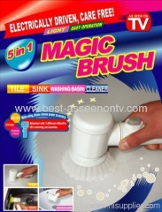 Factory Electric Magic Brush for Tile Sink Wash Basin Cleaning instant clear plastic brush