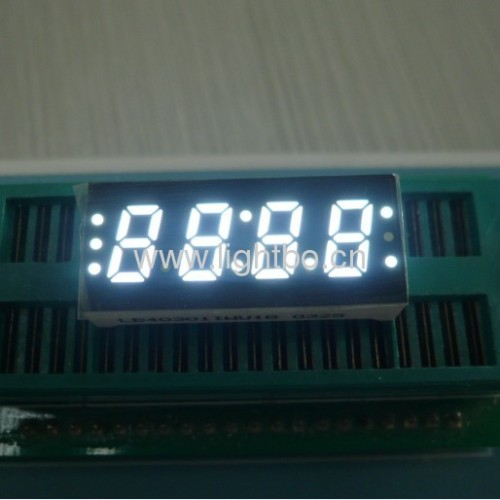 Ultra Bright White Four Digit 0.3(7.6mm) Common Anode 7-Segment LED Display