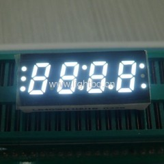 "Ultra Bright White Four Digit 0.3"" (7.6mm) Common Anode 7-Segment LED Display"