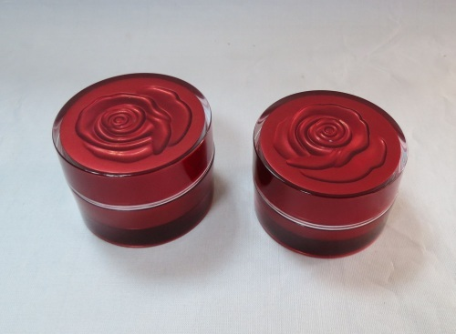 Rose cream jar Acrylic jar cosmetic package personal care