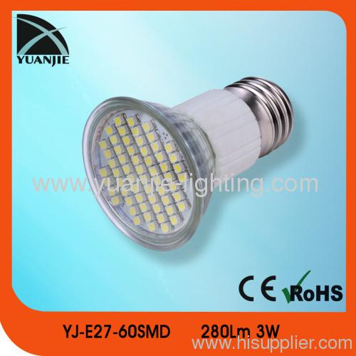 3w 280lm e27 smd led lamp