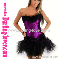 Sexy Purple Corset With Dress