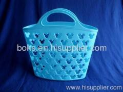 hot sale plastic bath handle basket