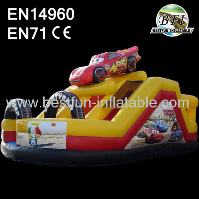 Inflatable Cars Speedway Slide