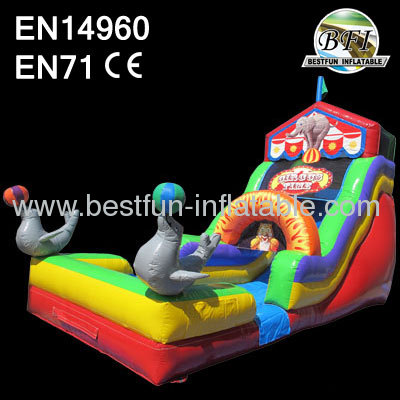Inflatable Circus Dry Slide