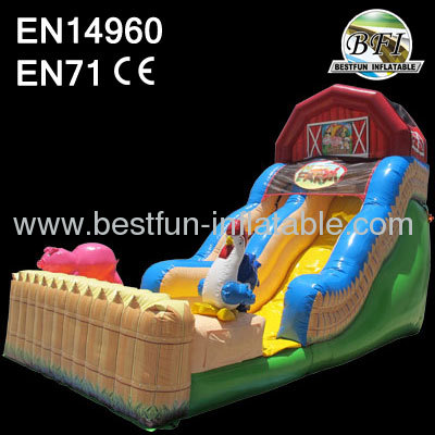Backyard Inflatable Farm Slide