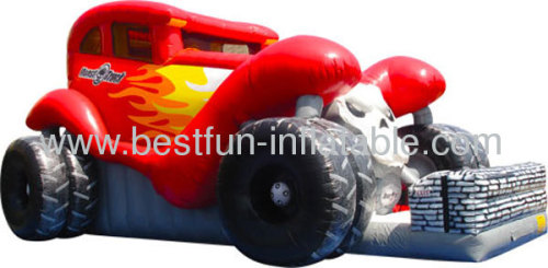Monster Truck Big Inflatable Slide