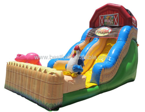Inflatable Slide With Funny Farm Theme