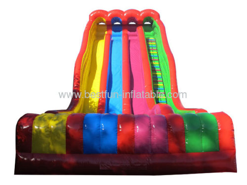 Triple Lindy Inflatable Slide